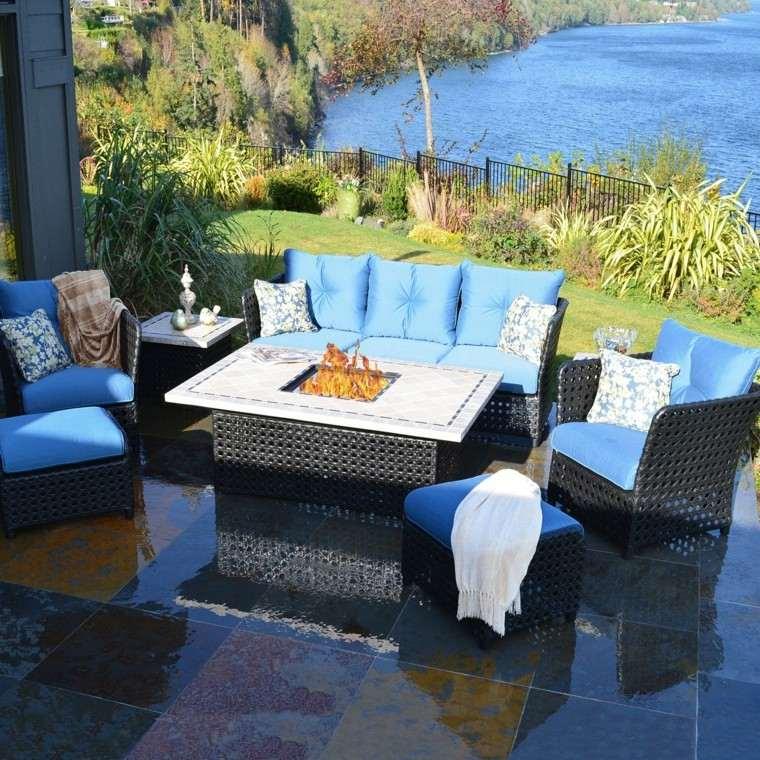 sofas jardin vista preciosa lugar fuego ideas