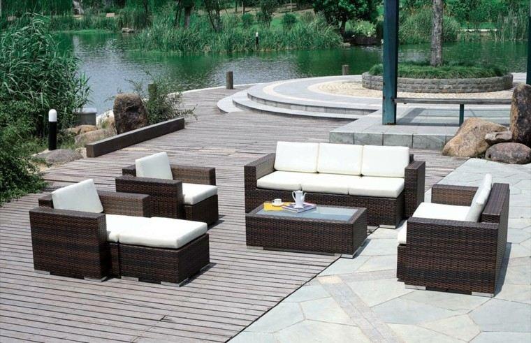 sofas rattan perfectos espacios exteriores ideas