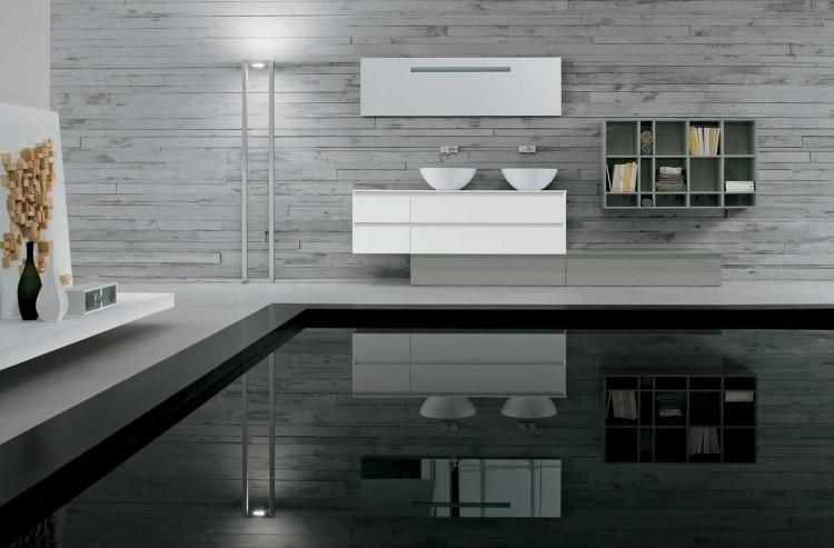 suelo cuarto baño negro brillo