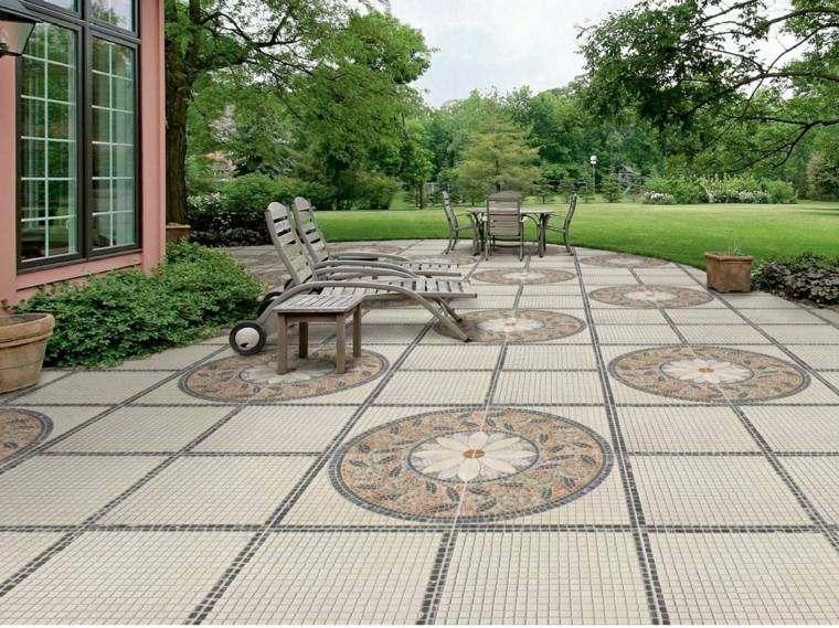 Baldosas para el jard n moderno 50 ideas preciosas - Suelos para jardines exteriores ...