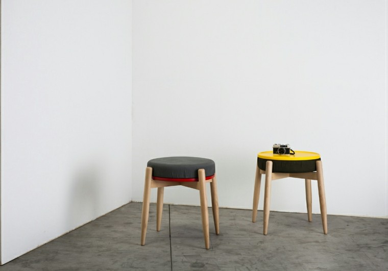 taburetes pequenos diseno original muebles ideas
