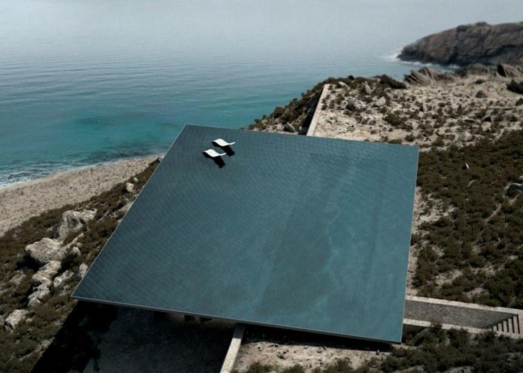 techo piscina increible tumbonas oceano