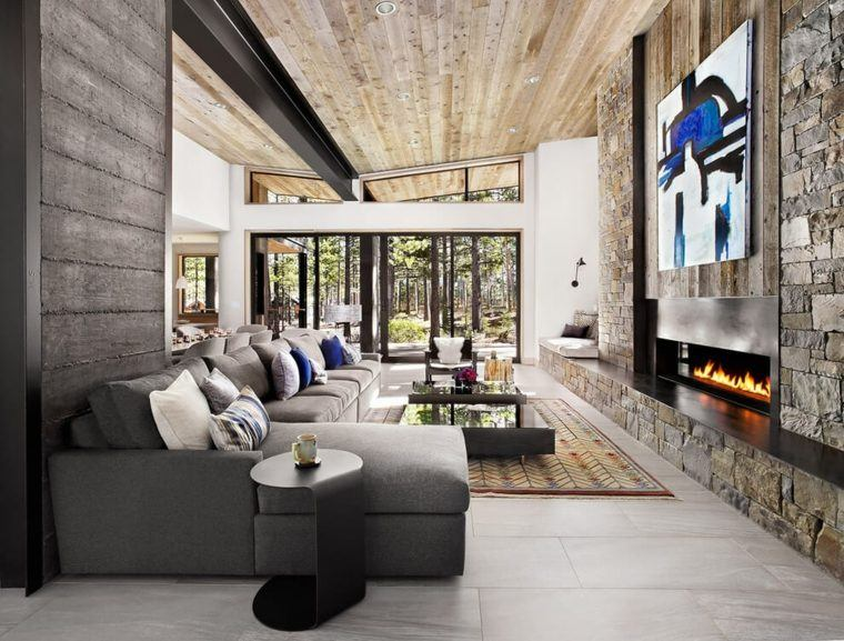 tendencias cuadro abstracto sofa fuego