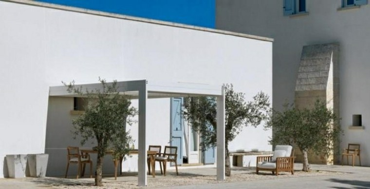 tendencias terrazas modernas pergola arboles ideas
