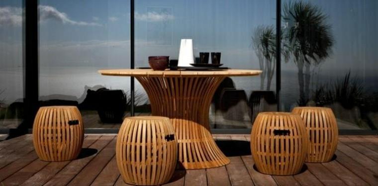 tendencias terrazas taburetes mesa modernos ideas