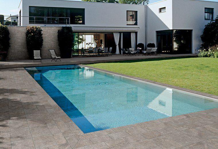 Baldosas para el jard n moderno 50 ideas preciosas for Baldosas terraza exterior