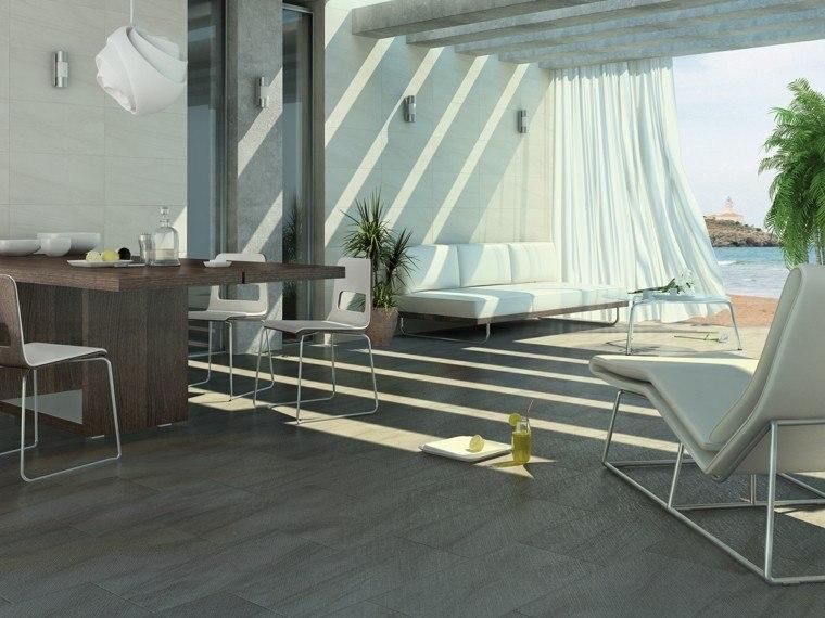 terraza cortinas sofa blanca ideas modernas