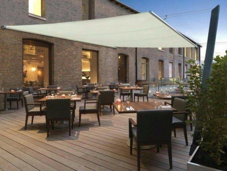 Toldos y parasoles de dise o moderno 50 ideas for Cubiertas modernas para terrazas