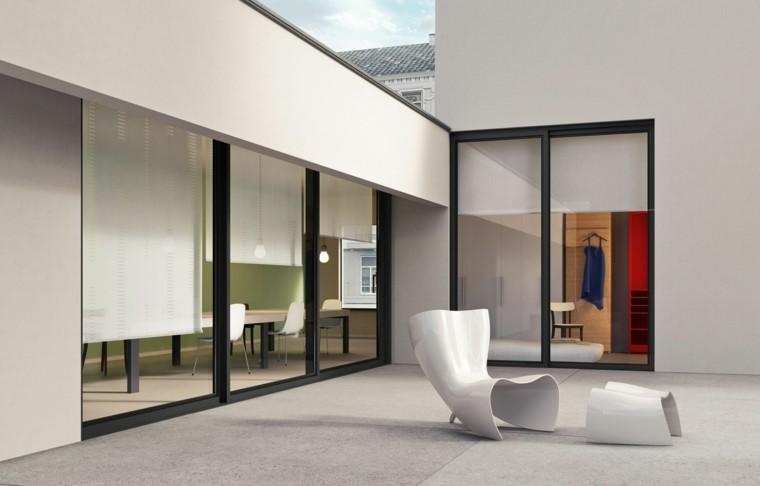 terraza estilo minimalista muebles innovadores ideas