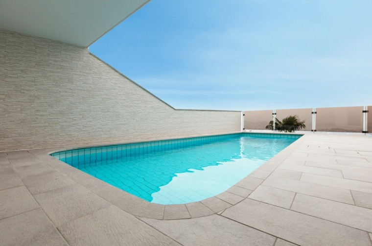 terraza estilo minimalista valla alta losas ideas