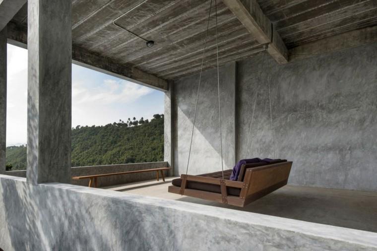 terraza hormigon creativo mueble moderno