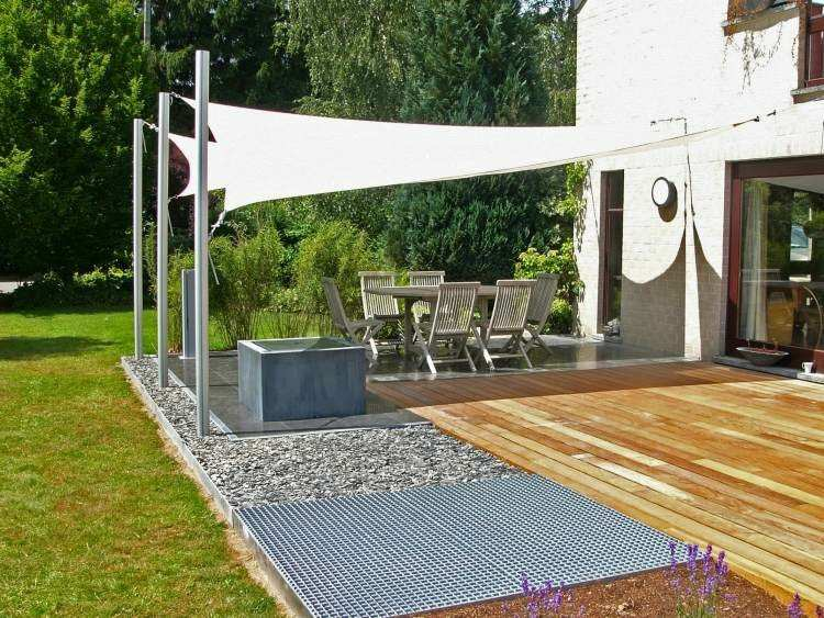 Toldos y parasoles de dise o moderno 50 ideas for Carpas jardin leroy merlin