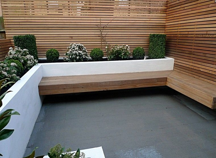 Paisajismo contempor neo 75 ideas para dise ar su jard n for Garden decking and slabs