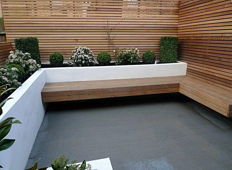 terraza madera suelo color gris