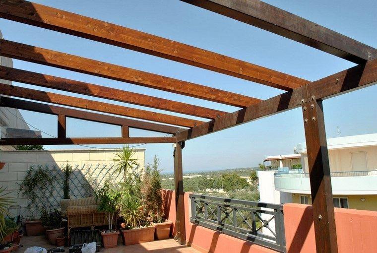 P rgolas jardines terrazas con estilo muy modernas - Pergolas de madera para terrazas ...