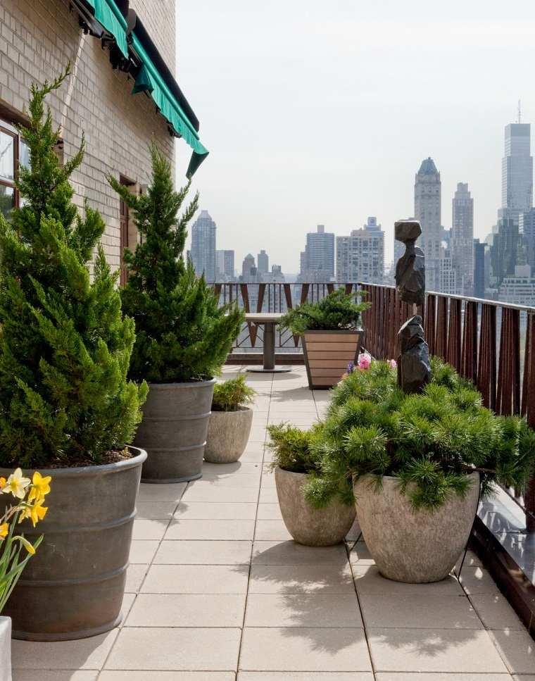 Terraza 50 ideas incre bles para decorarla con plantas - Plantas terraza ...