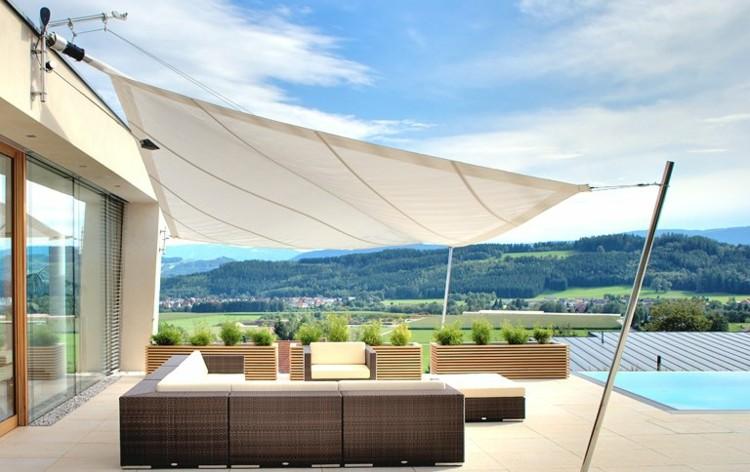 Toldos y parasoles de dise o moderno 50 ideas - Toldos para patios exteriores ...