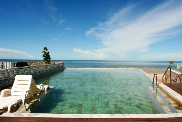 terrazas orilla mar piscinas pequenas espacios estrechos ideas