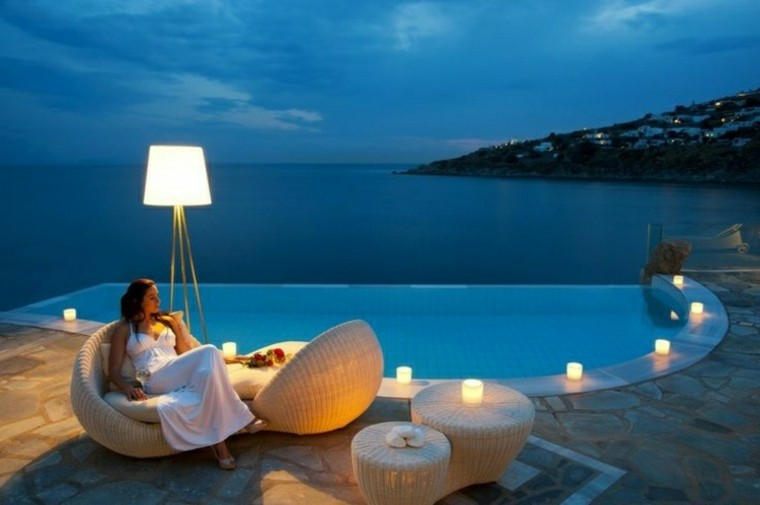 tiempo libre lampara noche romantico
