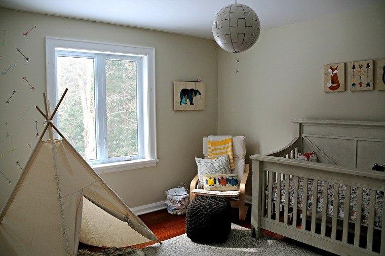 Dormitorios infantiles dise o creativo con tem tica bosque - Pegatinas para dormitorios infantiles ...