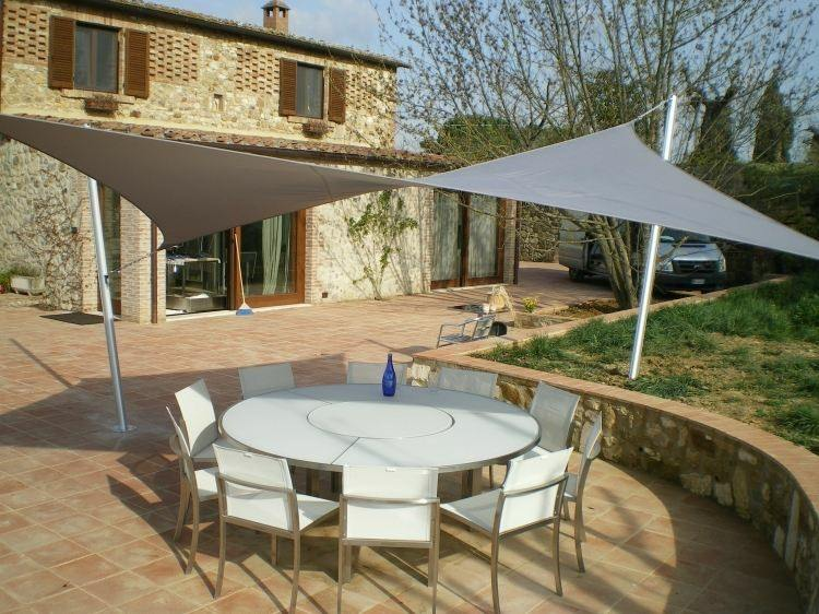 Toldos y parasoles de dise o moderno 50 ideas for Tensores para toldos