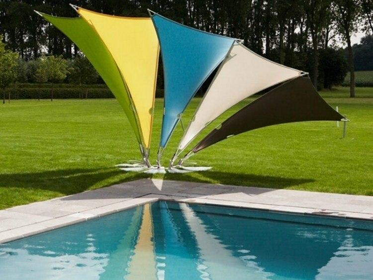 toldos pequeños varios colores piscina