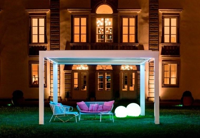 toldos pergolas iluminacion LED romantica ideas