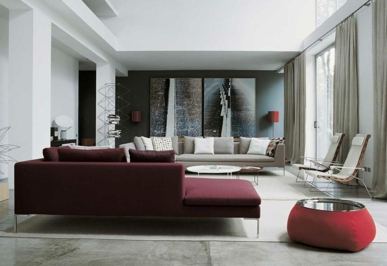 tonos grises salon estilo moderno