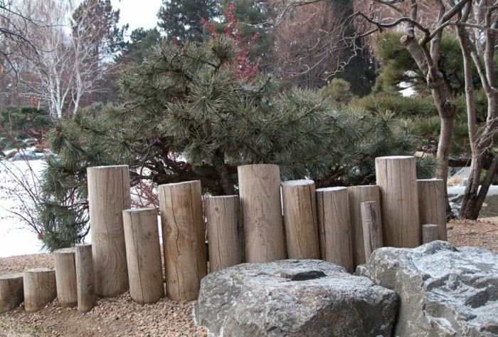 troncos redondos cilindricos niveles escalones