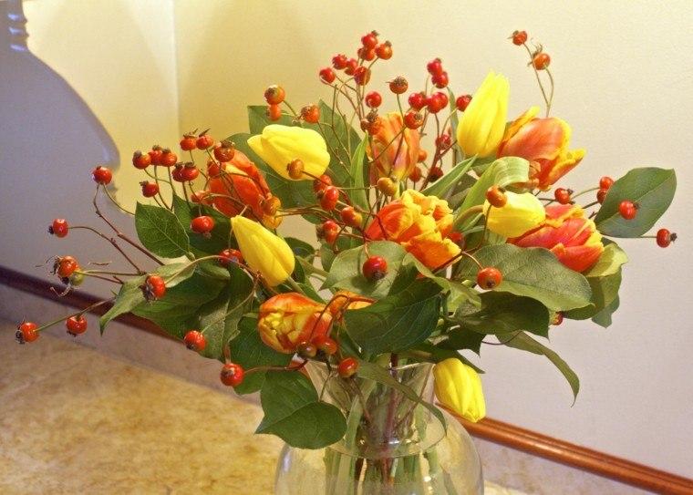 tulipan rosa espigas diy amarillo