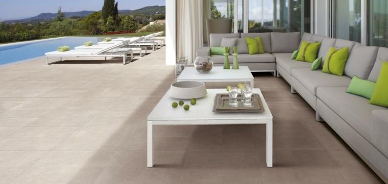 tumbonas blancas terraza moderna sofa ideas