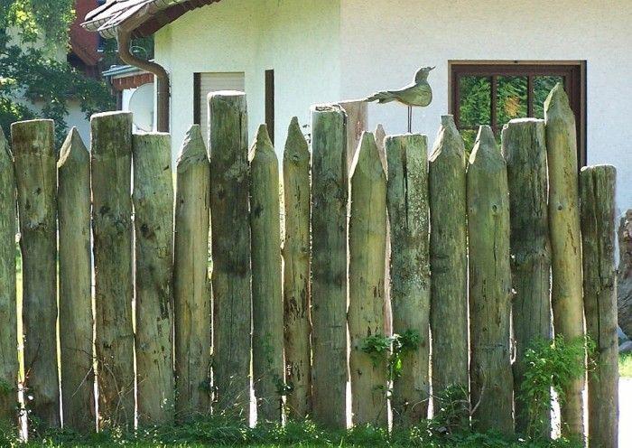 valla empalizada madera diseño rustico