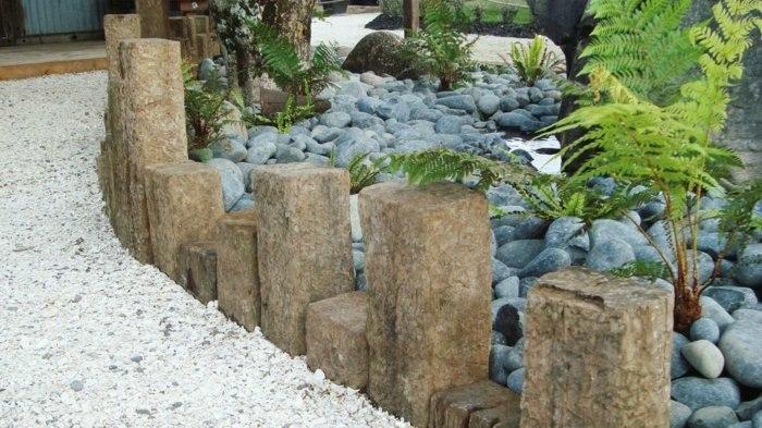 valla piedras empalizada moderna rocas