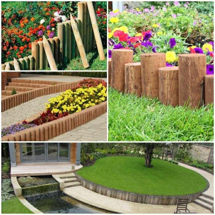 Vallas decorativas para jardin valla de madera escalonada for Cerrar valla jardin