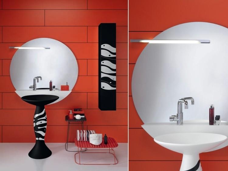 Espejos iluminacion y estilo en 50 incre bles propuestas for Bano con espejo redondo