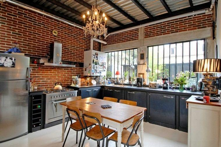 ventilacion natural cocina urbana estilo industrial ideas