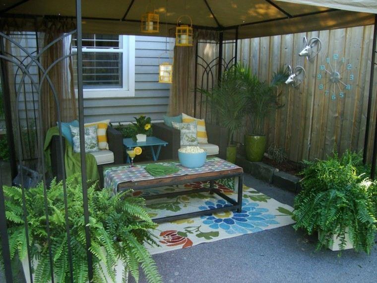 verano acogedor patio decoracion exteriores