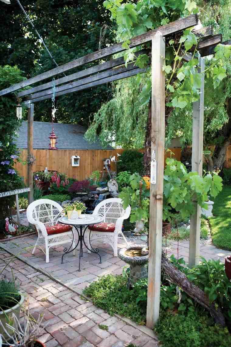 verano jardin decorativo espacio sencillo