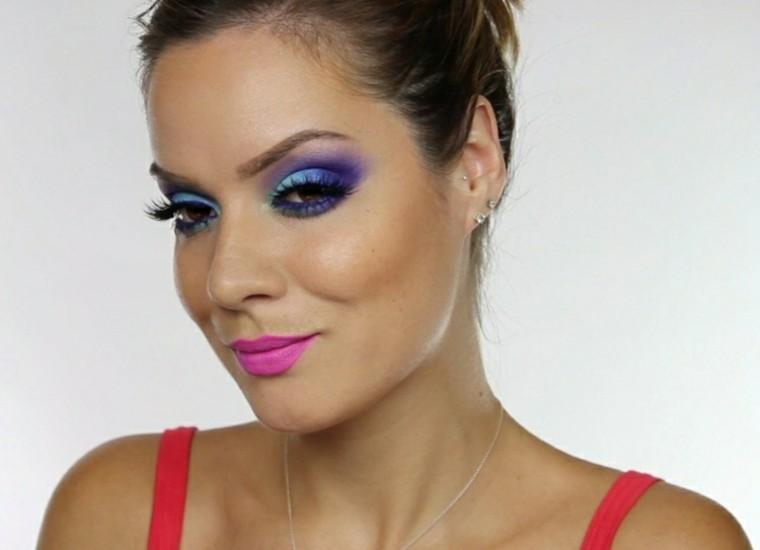 verano lila mujer rosa colorido azul