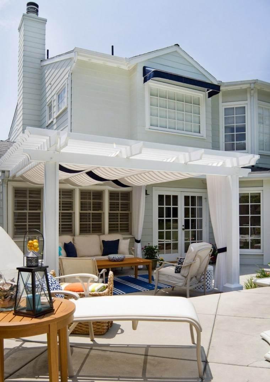 verano patio casa faroles blanca