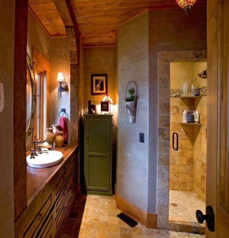 verde cabinetes lavabo paredes pequeño