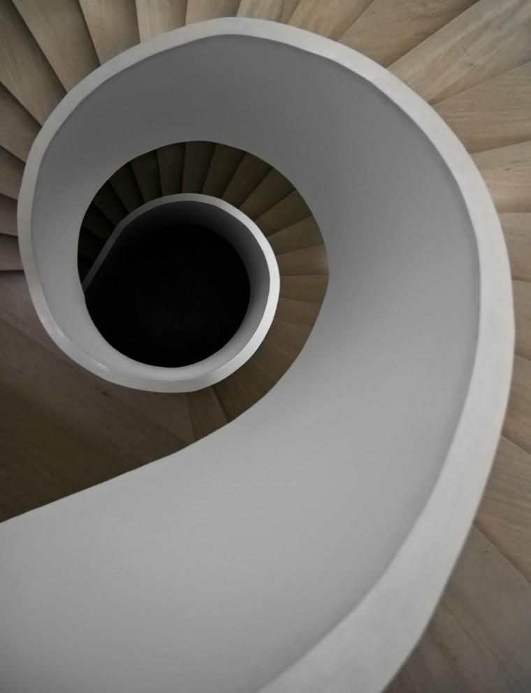 yeso madera diseño escaleras caracol