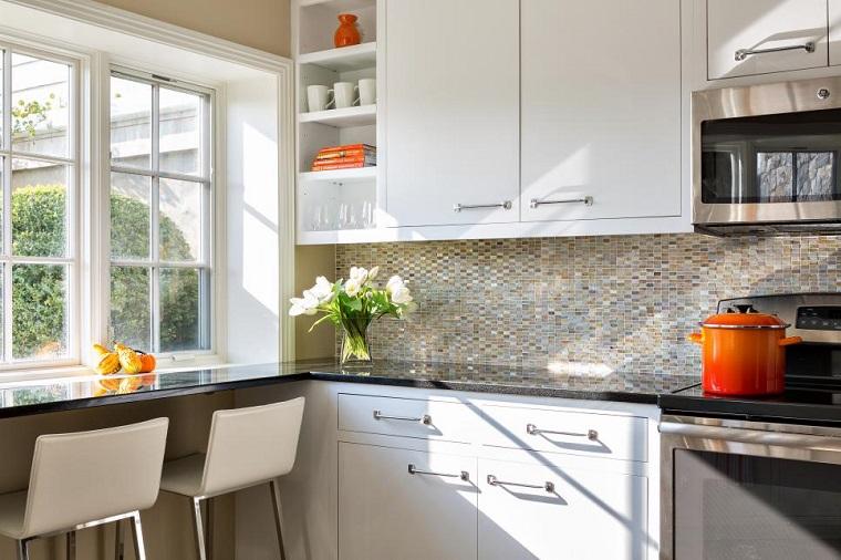 Cocinas Pequenas Con Muebles Blancos.50 Impresionantes Ideas Para Cocinas Pequenas Ar Cocinas