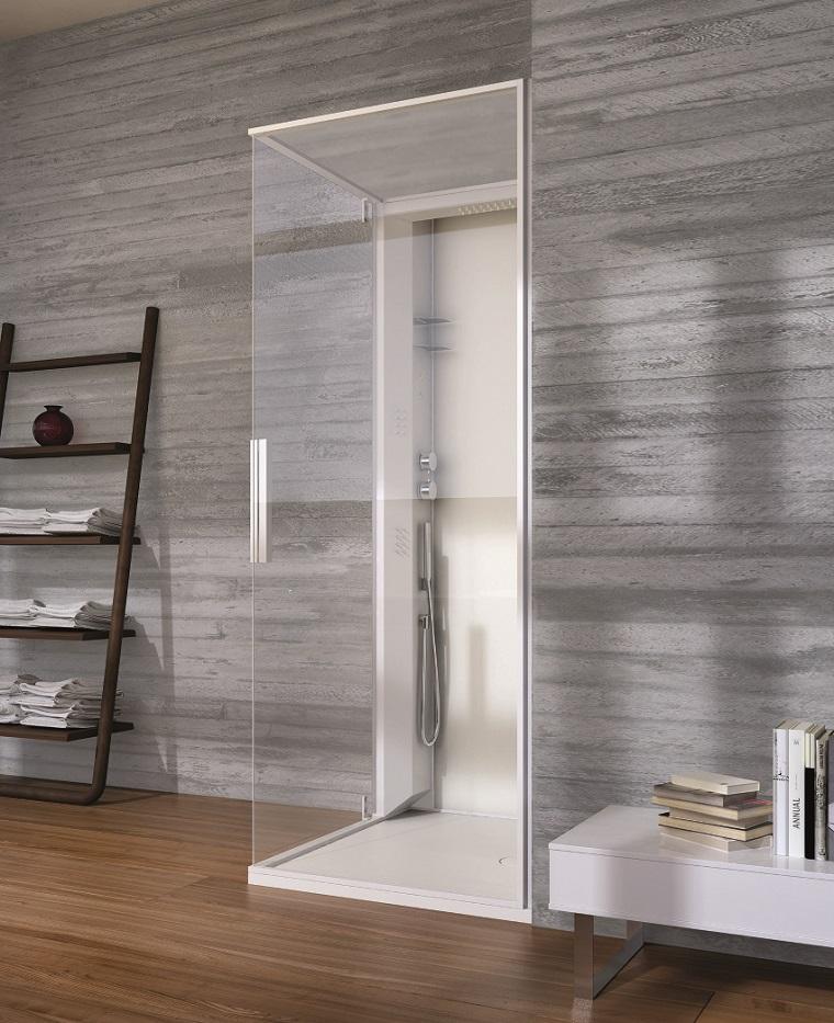 Baños Con Ducha En El Suelo:Diseño de baños en color gris 50 ideas inspiradoras -