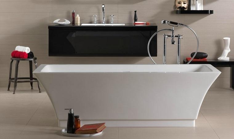 Danelon Meroni rojo blanco negro bano diseno minimalista ideas