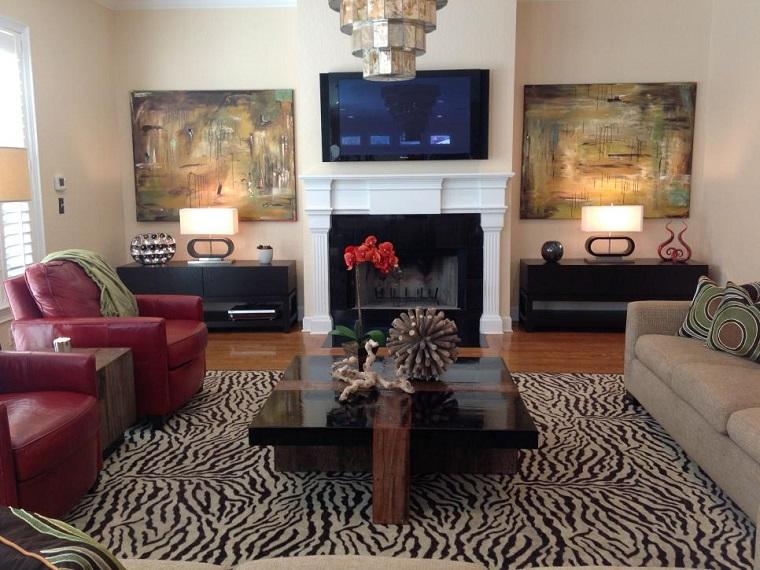 Decorar con cuadros 25 ideas para el hogar moderno - Sillones para salon ...