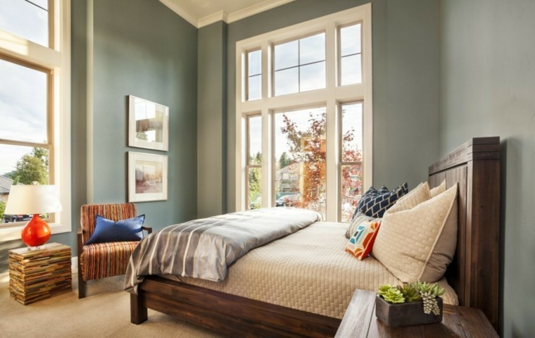 Decoraci n dormitorios matrimoniales 50 ideas elegantes - Colores relajantes para dormitorio ...