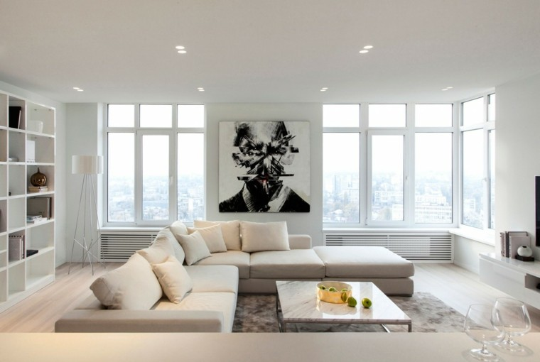 Kashuk Constantine salon amplio blanco mesa marmol ideas