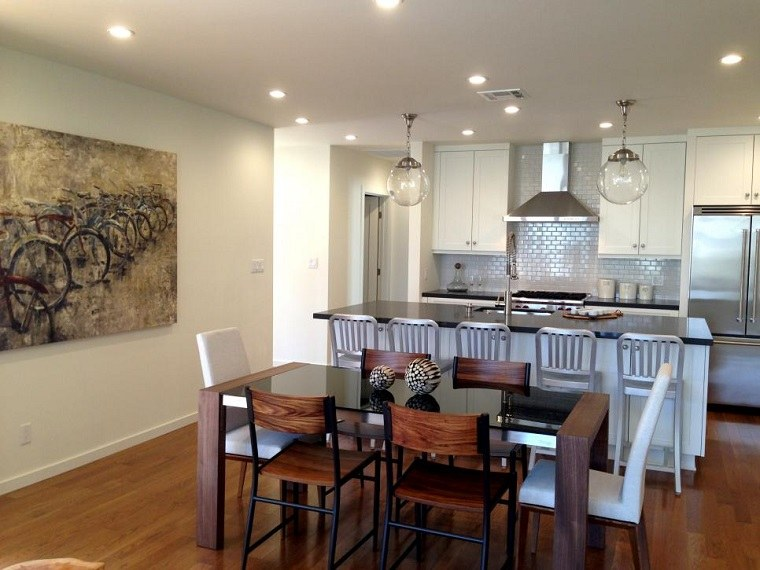 Cocina Mesa De Diseño Blancas