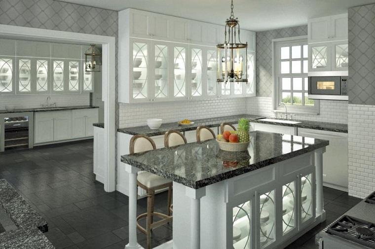 Scott Thomas cocina minimalista encimeras marmol ideas